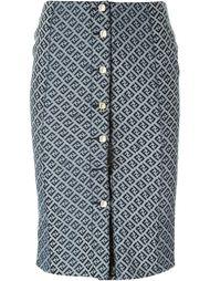 юбка с узором в логотипы FF Fendi Vintage