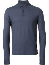 long sleeve polo shirt Zanone
