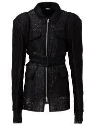 приталенная куртка с поясом Yang Li