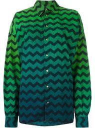 рубашка с зигзагообразным принтом Versace Vintage