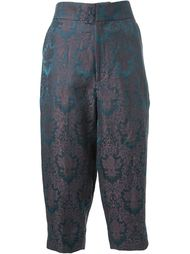 baroque jacquard cropped trousers Aganovich