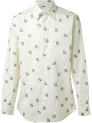 рубашка в горошек с принтом черепов Alexander McQueen