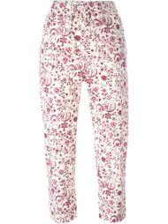 укороченные брюки с цветочным принтом Wunderkind