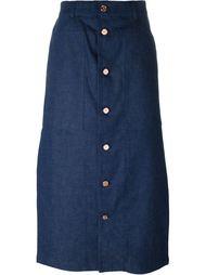 button up skirt Julien David