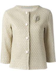 пиджак декорированная брошью Ermanno Scervino