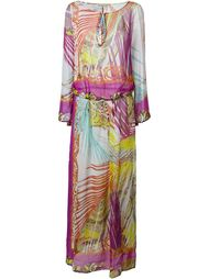 длинное платье с абстрактным принтом Etro