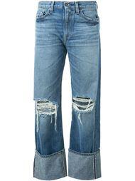 широкие джинсы с рваной отделкой Simon Miller