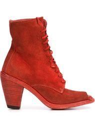 ботинки по щиколотку с открытым носком Guidi