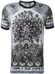 футболка с принтом павлина Dolce & Gabbana