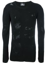 distressed long sleeve crew neck jumper Lost & Found Ria Dunn