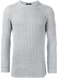 cable knit fitted jumper Roberto Collina