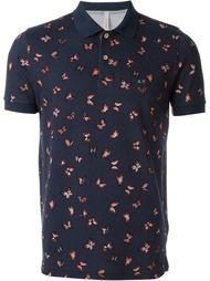 футболка-поло с принтом бабочек Sun 68