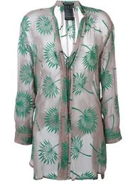 plants motif embroidered blouse Ann Demeulemeester
