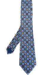 галстук с принтом предметов аборигенов Hermès Vintage