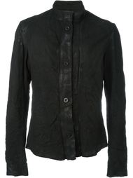 button down high neck 'Chemical' biker jacket Lost & Found Ria Dunn