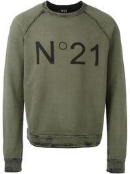 свитер с принтом-логотипом Nº21