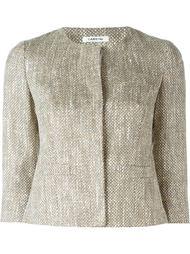укороченный тканый пиджак Lardini