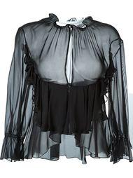 frilled drop slit blouse Francesco Scognamiglio