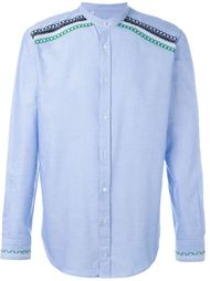 embroidered band collar shirt MSGM