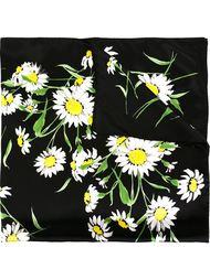 шарф с принтом ромашек  Dolce & Gabbana
