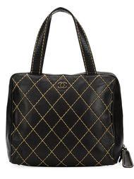средняя сумка-тоут 'Surpique' Chanel Vintage