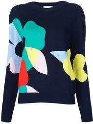 свитер с цветочным рисунком интарсией Mira Mikati