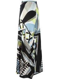 geometric print long skirt Antonio Berardi