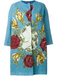 жаккардовое пальто с принтом роз Antonio Marras