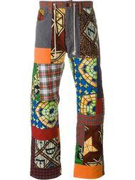 широкие брюки с лоскутным узором Junya Watanabe Comme Des Garçons Man
