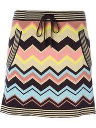 юбка с зигзагообразным принтом Missoni Vintage