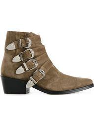 ботинки  по щиколотку с ремешками на пряжке  Toga