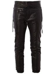 укороченные байкерские брюки Haider Ackermann