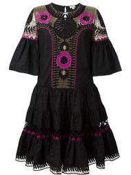 платье с вышивкой  Temperley London