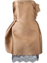 платье с кружевным подолом  Lanvin