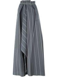 декорированная полосатая длинная юбка  Brunello Cucinelli