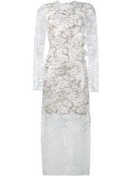 Sheer Floral Long Sleeved Dress Preen By Thornton Bregazzi