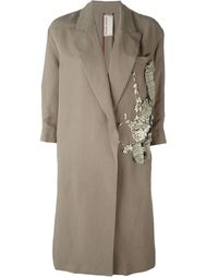 embellished trench coat Antonio Marras