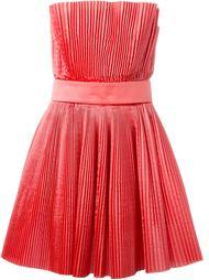плиссированное платье без бретелей Roberto Capucci