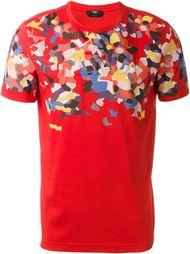 футболка с пятнистым принтом Fendi