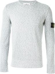 свитер с заплаткой с логотипом Stone Island