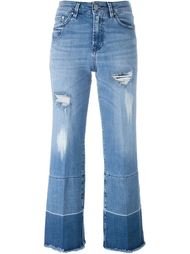 джинсы с потертой отделкой Don't Cry