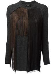 свитер с бахромой Lanvin