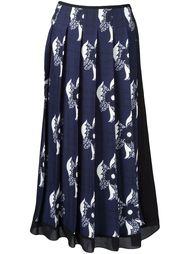 плиссированная юбка с принтом Victoria Beckham
