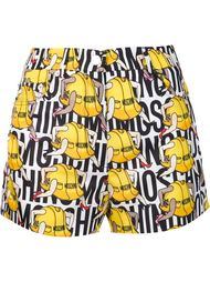 hard hat print shorts Moschino