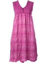 полосатое фактурное повседневное платье Issey Miyake Cauliflower