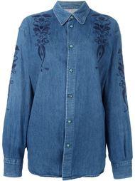джинсовая рубашка с вышивкой Moschino Vintage
