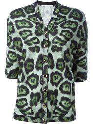 рубашка с леопардовым принтом   Givenchy
