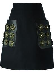 мини-юбка с накладными карманами Fendi