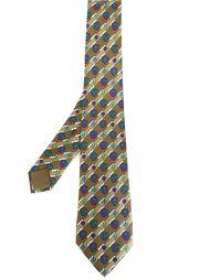 галстук с принтом воздушных шаров Hermès Vintage