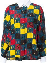 рубашка с принтом сумок Lanvin